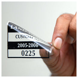 Static Cling Window Labels