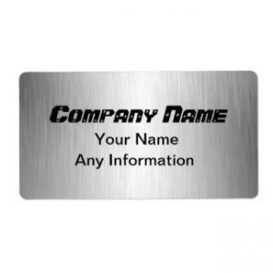 Brushed Aluminum Labels