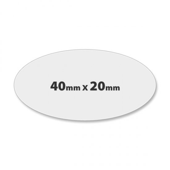 Oval Paper Label Printing