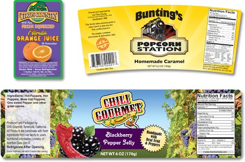 Oval Product Labels Printing