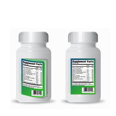 Rectangle Nutraceutical Product Label Printing