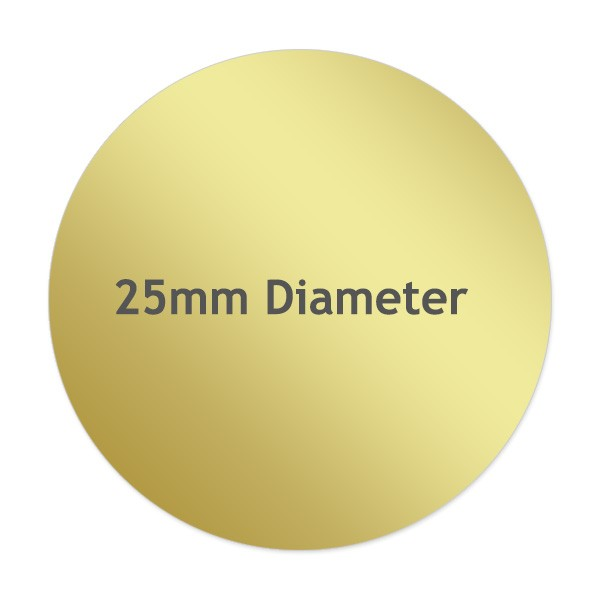 Round Metallic Gold Labels