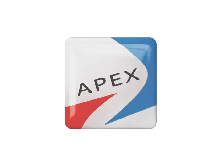 Square Resin Domed Labels Printing