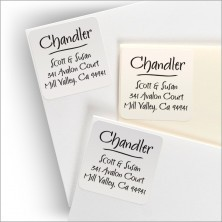 Square Clear Labels