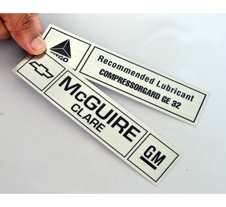 Custom Brushed Aluminium Labels