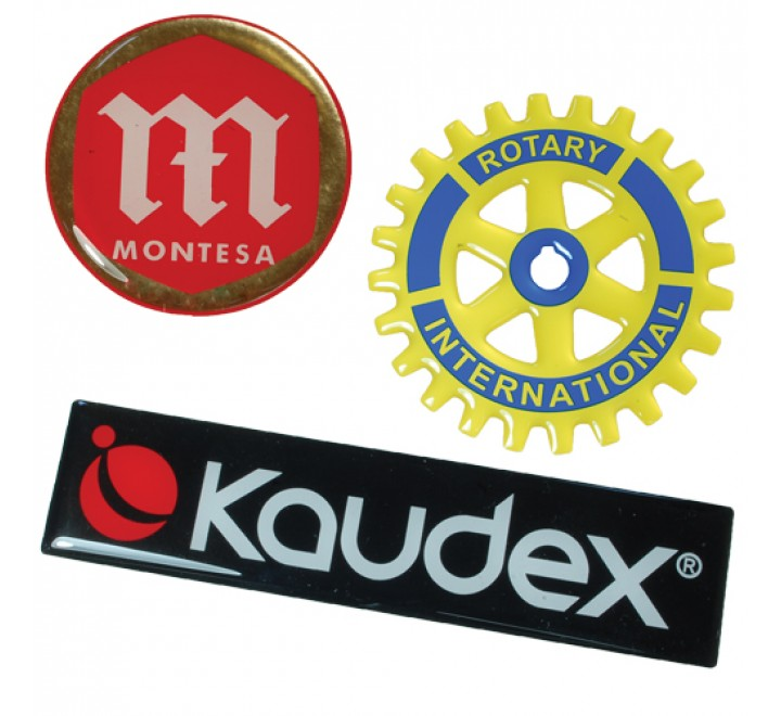 Custom Resin Domed Labels Printing