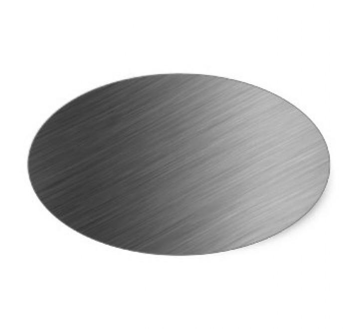 Brushed Aluminium Oval Labels