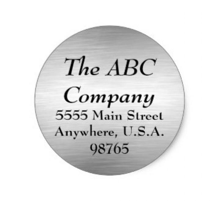 Brushed Aluminium Round Labels