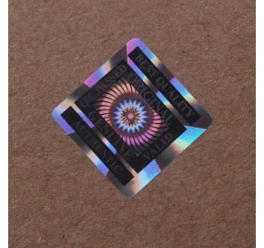 Square 3D Hologram Labels