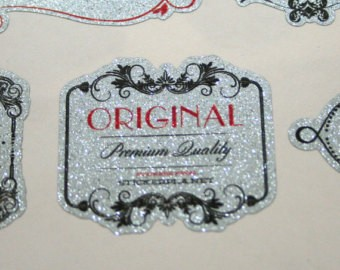 Die Cut Metallic Silver Labels