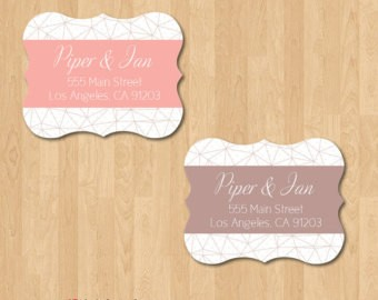 Die Cut Address Labels