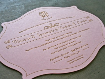 Die Cut Letterpress Printed Labels