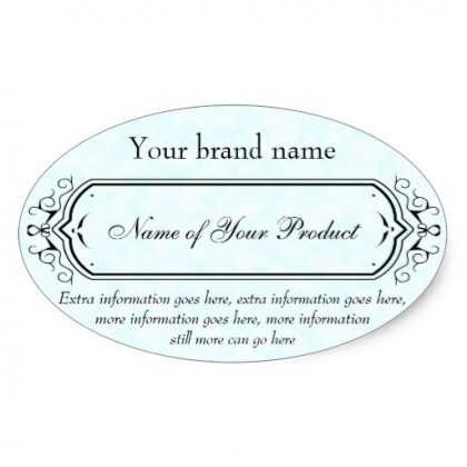 Oval Cosmetic Labels
