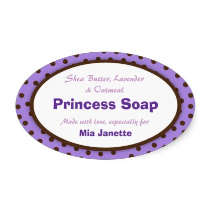 Oval Soap Labels