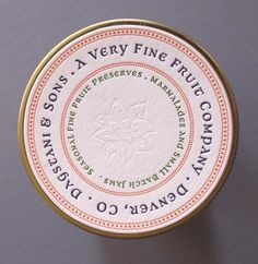 Letterpress Printed Round Labels