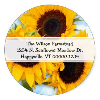 Round Return Address Label Printing