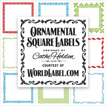 Square Product Labels Printing