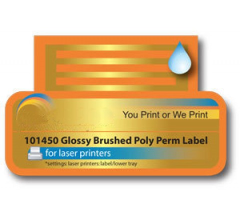 Brushed Aluminium Die Cut Labels