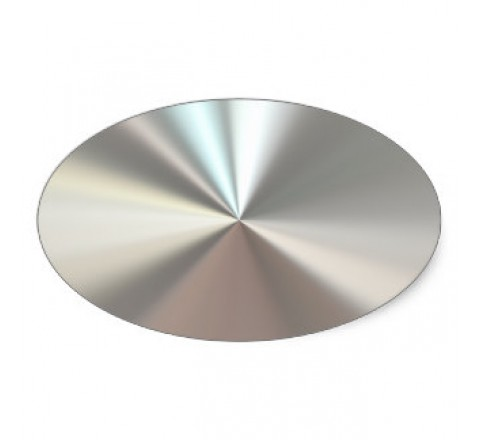 Oval Metallic Silver Labels