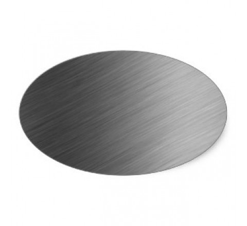 Brushed Aluminium Oval Labels