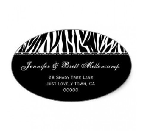 Oval Return Address Label Printing
