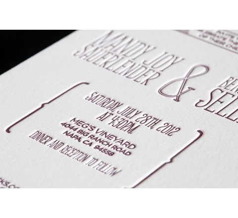 Rectangle Letterpress Printed Labels