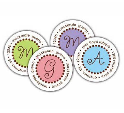 Household Round Labels