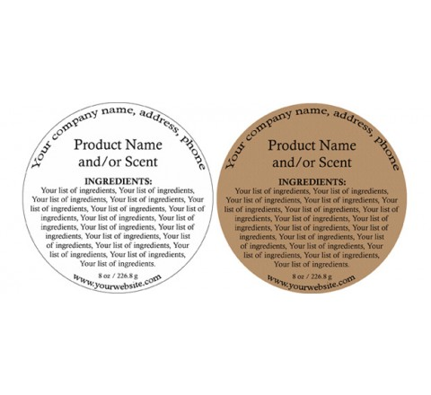 Round Product Labels Printing