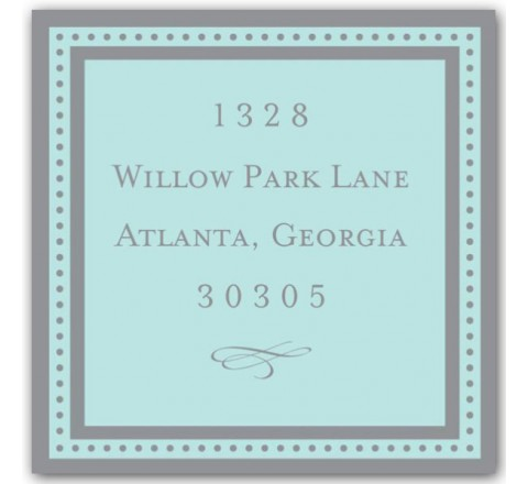 Square Return Address Label Printing
